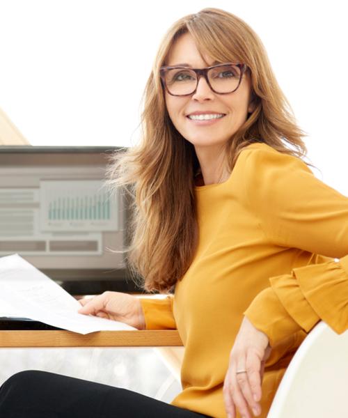 Geschäftsfrau und Kooperationspartner BGM neo