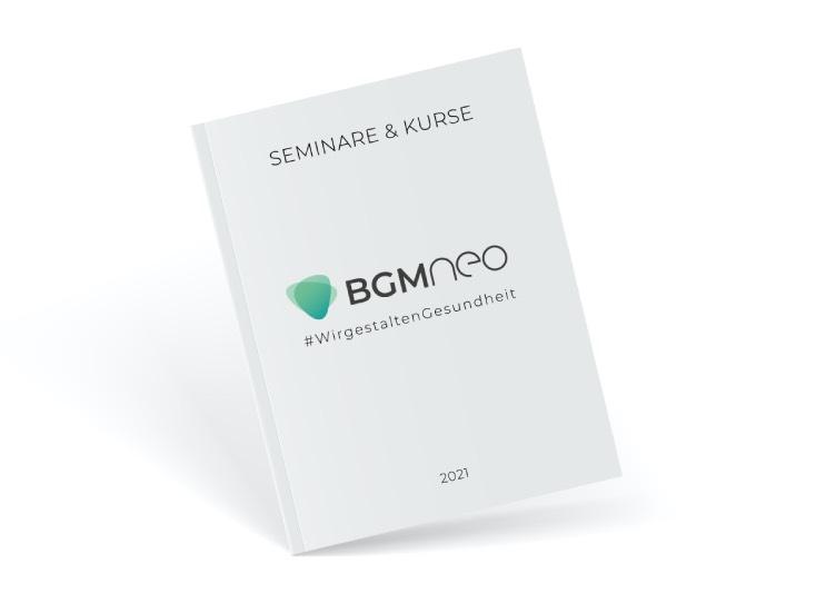 BGM neo Leistungsportfolio Katalog für Seminare und Kurse